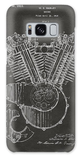 1923 Harley Engine Patent Art - Gray Galaxy Case