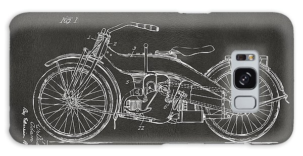 1924 Harley Motorcycle Patent Artwork - Gray Galaxy Case by Nikki Marie Smith
