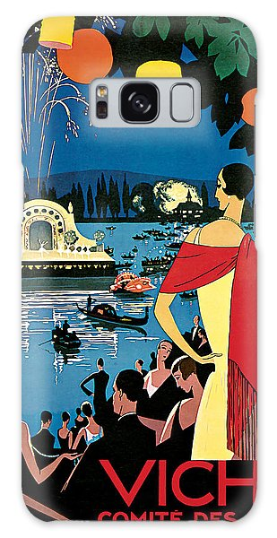 1926 Vichy Comte Des Fetes - Vintage Travel Art Galaxy Case by Presented By American Classic Art