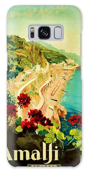 1927 Amalfi Italy Vintage Travel Art Galaxy Case by Presented By American Classic Art