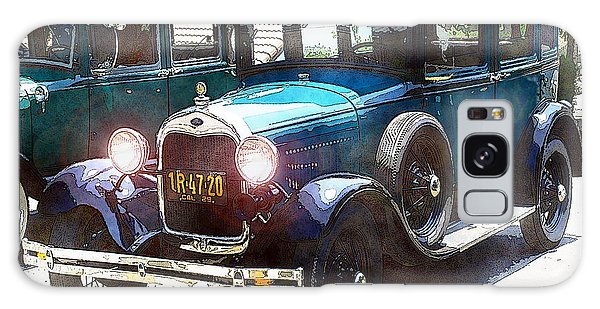 1927 Ford Lights On Galaxy Case
