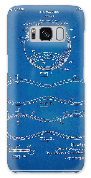 1928 Baseball Patent Artwork - Blueprint Galaxy Case by Nikki Smith