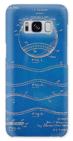1928 Baseball Patent Artwork - Blueprint Galaxy Case