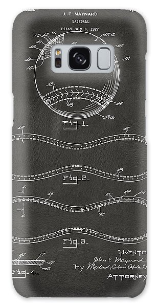 1928 Baseball Patent Artwork - Gray Galaxy Case