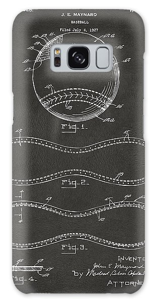 Six Galaxy Case - 1928 Baseball Patent Artwork - Gray by Nikki Marie Smith
