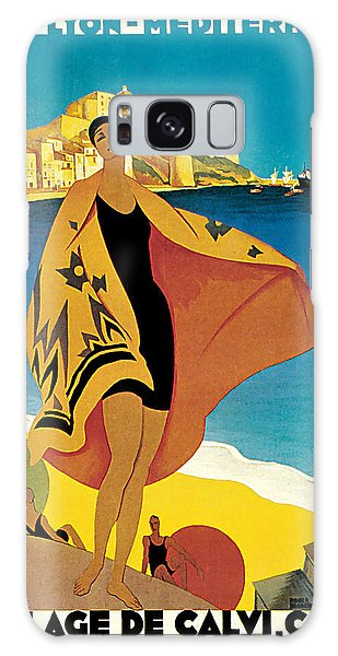 1928 La Plage De Calvi - Vintage Travel    Art Galaxy Case by Presented By American Classic Art