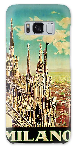 1928 Milano - Vintage Travel Art Galaxy Case by Presented By American Classic Art