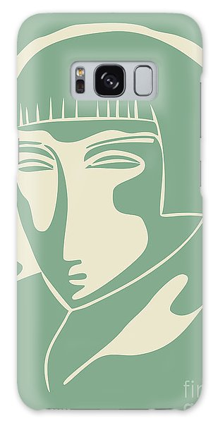 1928 Woman Face  Green Galaxy Case