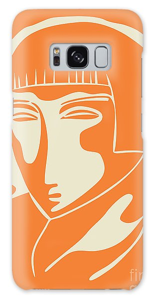 1928 Woman Face   Orange Galaxy Case
