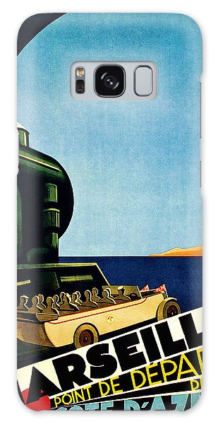 1929 Marseille Point De Depart Cote D Azur - Vintage Travel Art Galaxy Case by Presented By American Classic Art