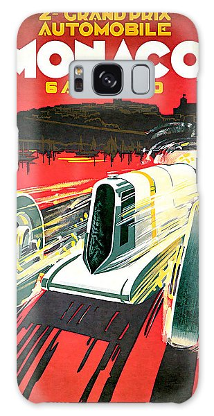 1930 Monaco Grand Prix Vintage Car Art Galaxy Case by Presented By American Classic Art