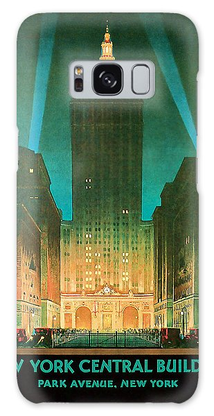 1930 New York Central Building - Vintage Travel Art Galaxy Case by Presented By American Classic Art