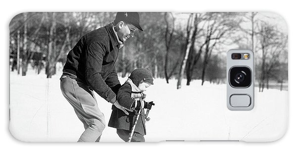 Cold Day Galaxy Case - 1930s Father & Son Man Wearing Jacket by Vintage Images