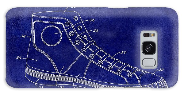 1934 Converse Shoe Patent Drawing Blue Galaxy Case