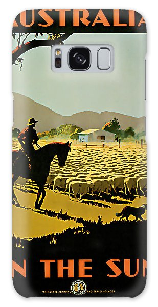 1935 Australia In The Sun - Vintage Travel Art Galaxy Case by Presented By American Classic Art