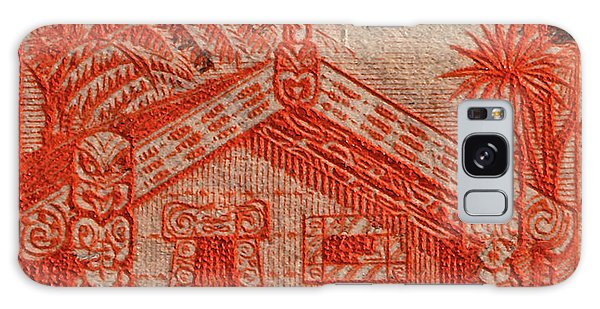 1935 Carved Maori House New Zealand Stamp Galaxy Case
