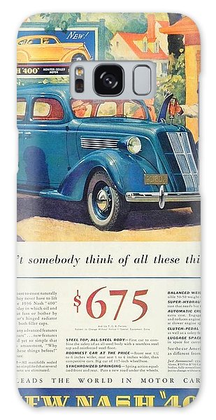 1936 - Nash Sedan Automobile Advertisement - Color Galaxy Case