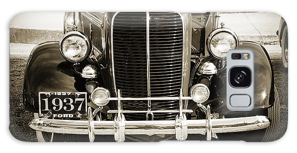 1937 Ford Pickup Truck Classic Car Front End Photograph In Sepia Galaxy Case