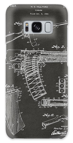Weapons Galaxy Case - 1937 Police Remington Model 8 Magazine Patent Artwork - Gray by Nikki Marie Smith