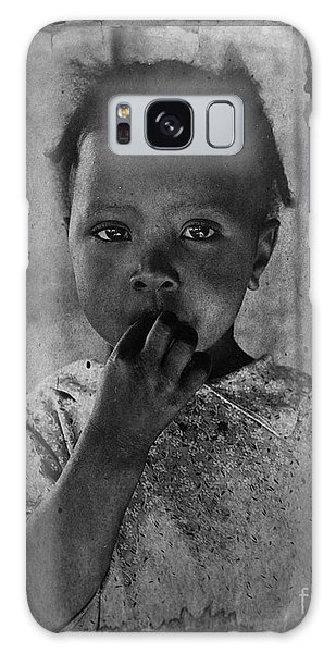 1937 Portrait Child Of Tenant Farmer Galaxy Case