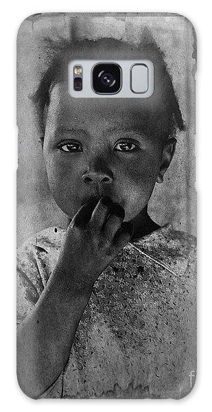 1937 Portrait Child Of Tenant Farmer Galaxy Case
