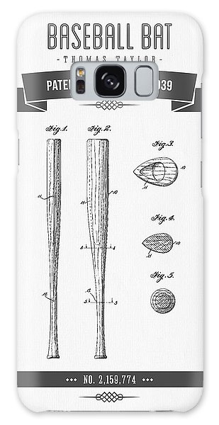 Baseball Galaxy Case - 1939 Baseball Bat Patent Drawing by Aged Pixel