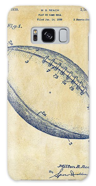 1939 Football Patent Artwork - Vintage Galaxy Case by Nikki Marie Smith