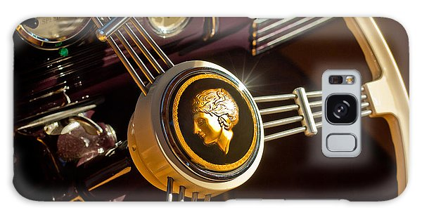 Galaxy Case featuring the photograph 1939 Ford Standard Woody Steering Wheel by Jill Reger