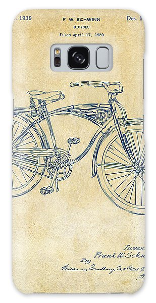 1939 Schwinn Bicycle Patent Artwork Vintage Galaxy Case