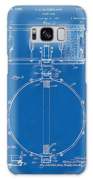 Drum Galaxy Case - 1939 Snare Drum Patent Blueprint by Nikki Marie Smith
