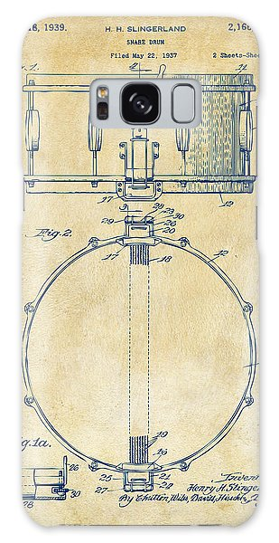 Drum Galaxy S8 Case - 1939 Snare Drum Patent Vintage by Nikki Marie Smith