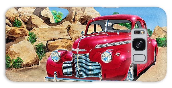 1940 Chevy Coupe In The Rocks Galaxy Case