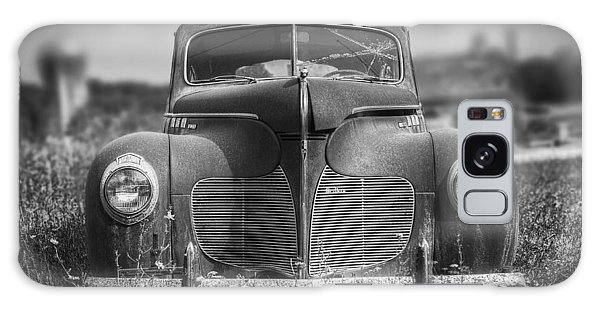 Vintage Cars Galaxy Case - 1940 Desoto Deluxe Black And White by Scott Norris