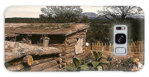 1940 Dugout Homestead New Mexico Galaxy Case by Merton Allen