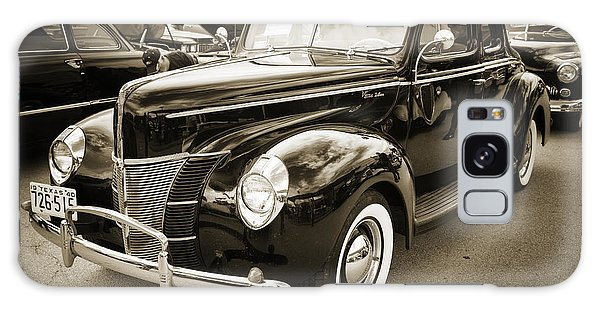 1940 Ford Classic Car Or Antique Automobile Photograph In Sepia  Galaxy Case by M K  Miller