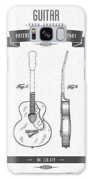 Guitar Galaxy Case - 1941 Guitar Patent Drawing by Aged Pixel