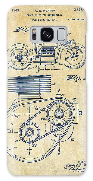1941 Indian Motorcycle Patent Artwork - Vintage Galaxy Case