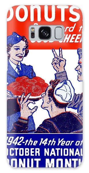 1942 Donut Month Poster Galaxy Case