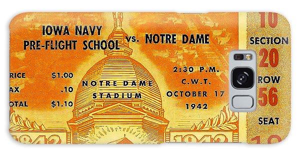 1942 Football Ticket Notre Dame Vs Iowa Navy Pre-flight Galaxy Case