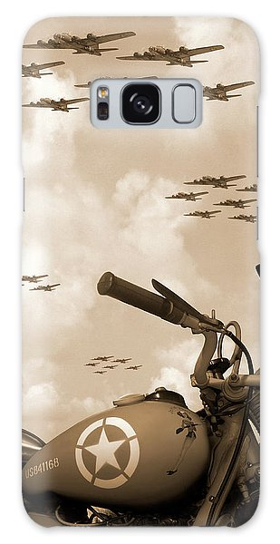 Bicycle Galaxy S8 Case - 1942 Indian 841 - B-17 Flying Fortress' by Mike McGlothlen