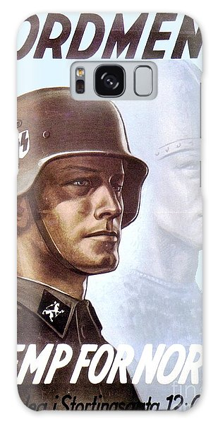 1943 - German Waffen Ss Recruitment Poster - Norway - Color Galaxy Case