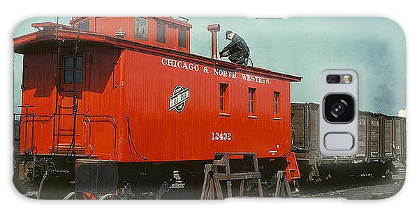 1943 A Railroad Caboose Galaxy Case by Merton Allen