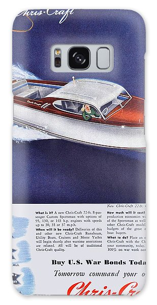 Sportsman Galaxy Case - 1945 - Chris Craft Power Boat Advertisement - Color by John Madison