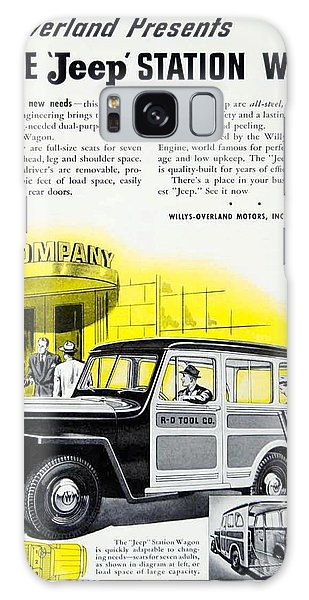 1946 - Willys Overland Jeep Station Wagon Advertisement - Color Galaxy Case