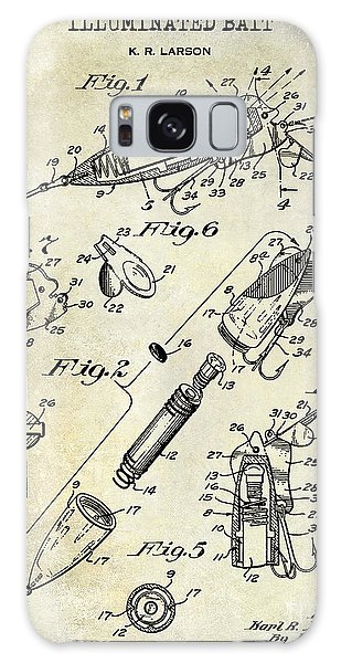 1940 Illuminated Bait Patent Drawing Galaxy Case