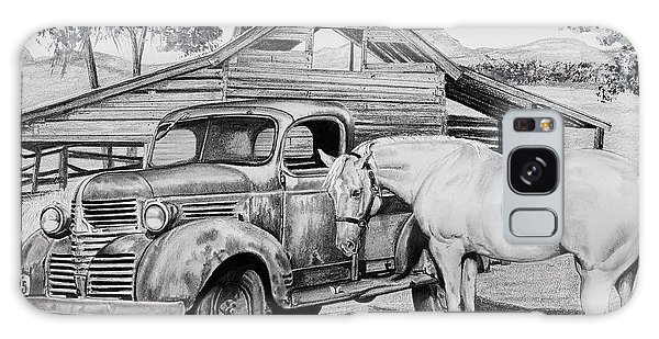 Old Truck Galaxy Case - 1947 Dodge Pick Up And Codi by Carolyn Valcourt