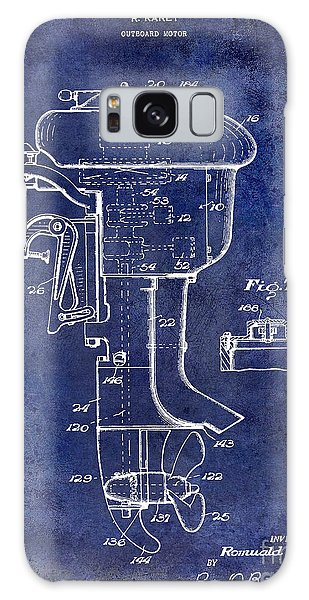 1947 Outboard Motor Patent Drawing Blue Galaxy Case