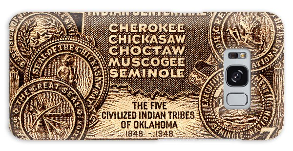 1948 Oklahoma Indian Centennial Stamp  Galaxy Case