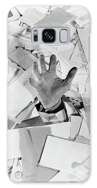 Drown Galaxy Case - 1950s Male Hand Sticking Out Of Pile by Vintage Images
