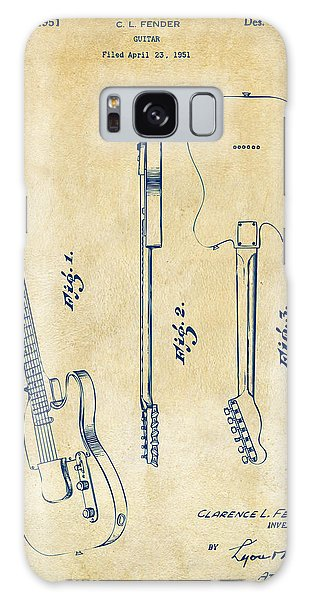 Guitar Galaxy Case - 1951 Fender Electric Guitar Patent Artwork - Vintage by Nikki Marie Smith